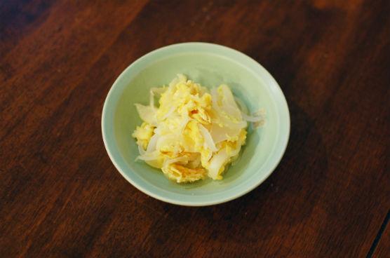 新玉ねぎの卵炒め