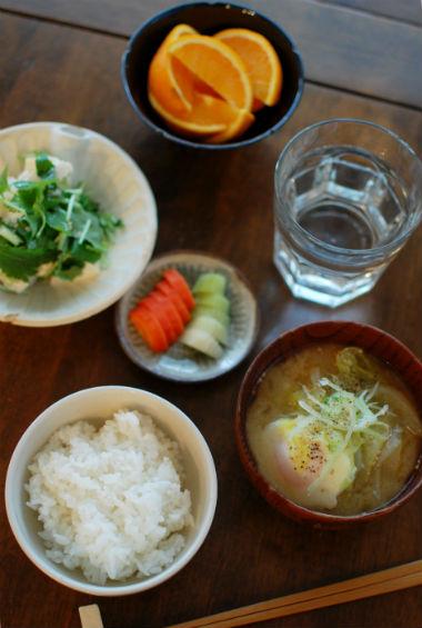 休肝日ごはん 味噌ラーメン的野菜味噌汁献立