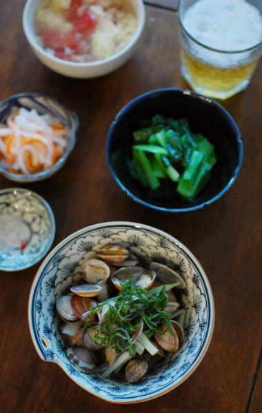 あさりと白ねぎのライム塩風味、ベトナムなますで家飲み