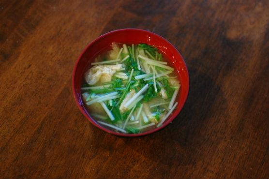 水菜の味噌汁