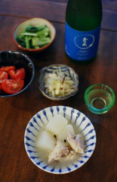 塩鶏と大根のスープ煮