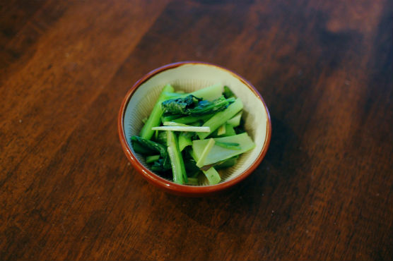 小松菜のしょうが炒め