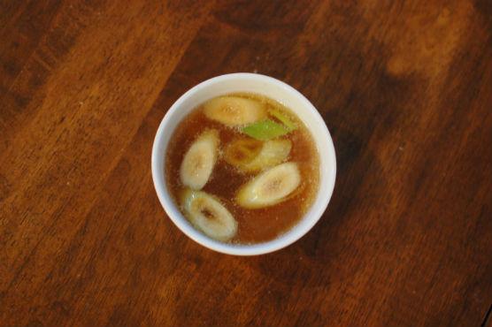 ねぎのしょうゆスープ