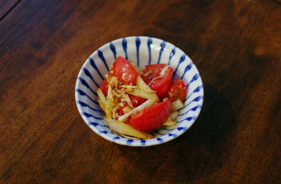 トマトとエシャロットの炒めもの