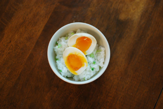 煮卵ごはん