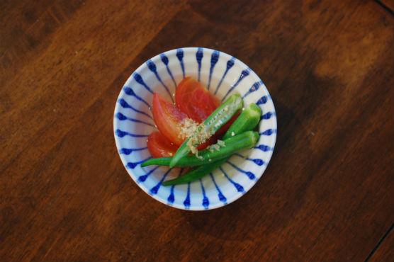 オクラとトマトの煮びたし