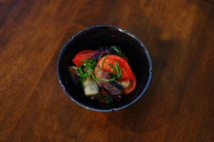 トマトとなすのサラダ