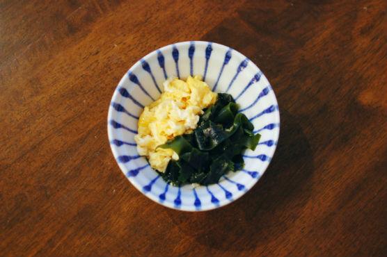 わかめと卵の炒めもの