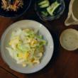 えのきのたらこ和え、キャベツと卵の炒めもの献立