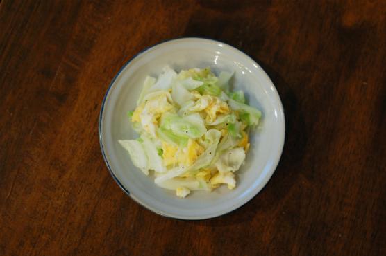 キャベツと卵の炒めもの
