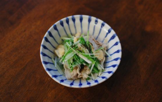 豚肉と水菜のはりはり煮