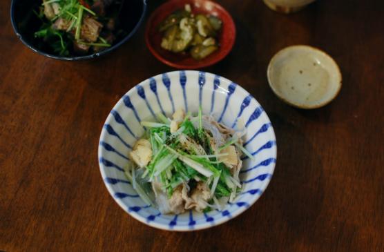 豚肉と水菜のはりはり煮献立