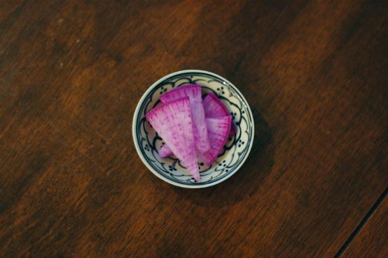 紫大根の浅漬け