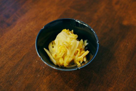 オレンジ白菜の梅おかか煮