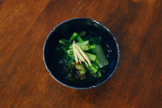 小松菜のもずく酢和え