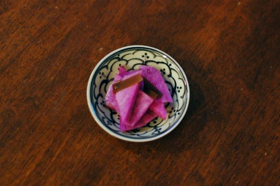 紫大根の甘酢漬け