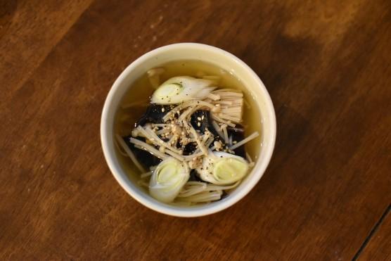 きのこの黒酢スープ
