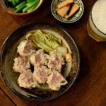 千葉県産・匠味豚のシュウマイ、きのこスープ献立。