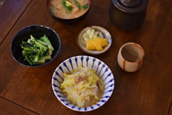 白菜とツナの煮もの