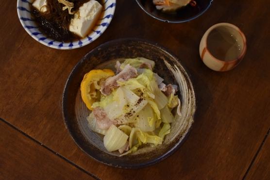 豚肉と白菜のゆず蒸し献立