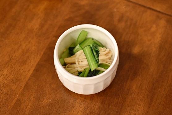 小松菜とえのきのおひたし