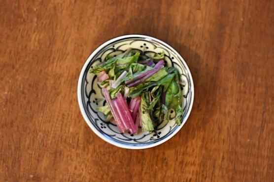 赤水菜の浅漬け