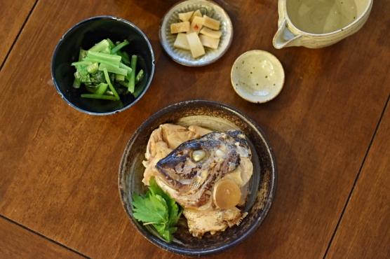 鯛のかぶと煮晩酌